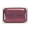 Glass Bead Flat Rectangle 19x12mm Dark Amethyst - Strung